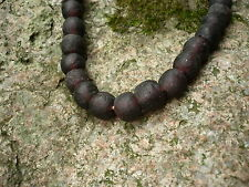 Strang Altglasperlen 13 mm aubergine - Recycled Glass Beads Ghana Krobo