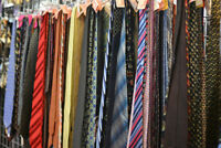 LOT 75 ties NECKTIES BULK SILK POLYESTER CUTTERS CRAFTS WHOLESALE JOB LOTS