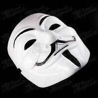V for Vendetta Anonymous Guy Fawkes Rave EDC Halloween Masquerade Mask [White]