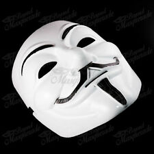 V for Vendetta Anonymous Guy Fawkes Rave EDC Halloween Masquerade Mask [White]