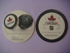 Beer Bar Coaster ~ 2011 MOLSON Brewery Canadian ~ Official Sponsor of NHL Hockey