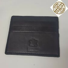 Genuine Leather Men Unisex Small ID Credit Card Wallet Holder Slim Pocket Case