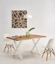 HOGAR24-Mesa Comedor, Salón, Oficina. Tablero madera maciza y patas de acero.