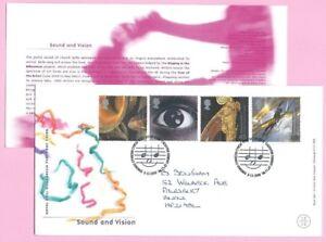 ROYAL MAIL 2000 FDC - SOUND & VISION - Shs CARDIFF