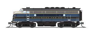 3784 N-SCALE BLI EMD F3A, B&O 82A, Blue/Gray/Yellow Scheme, Paragon3 Sound/DC/DC