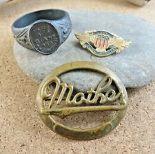 Ring Son In the Service Wings #911 Antique Lot Mother Pin Xl Giant Advertising