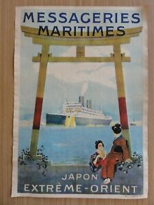 Altes Werbeplakat Messageries Maritimes Japon Extreme - Orient