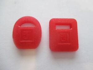 HOLDEN RED PLASTIC KEY COVERS NEW HQ HJ HX TORANA TA LJ LH LX CHEV CAMARO