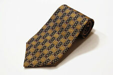 Mara Countess Mara Gold Black Maroon White Geometric Silk Tie