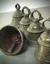 More details for  hindu temple bell. ghanta. antique indian / vintage. om. rajasthan. 13 cms high