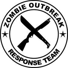Zombie brote equipo de respuesta Funny car/ipad Jdm Vw Euro Vinilo Autoadhesiva De 12