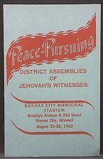 Watchtower/Jehovah's Witnesses 1960 CONVENTION PROGRAM Municipal Stadium, Kansas