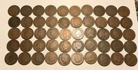 Complete Roll of 50 1887 Indian Head Cents Pennies Solid Good+ FREE SHIPPING!