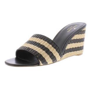 Kate Spade Womens Linda Beige Striped Wedges Shoes 9 Medium (B,M) BHFO 4331