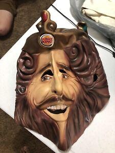 "Burger King ""The King"" Costume Mask Robe Cosplay Rubie's Costume Co Halloween"