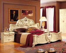 Luxury Glossy Ivory King Bedroom Set 3 Classic Made in Italy Esf Barocco