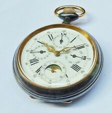 MONTRE  REGULATEUR TRIPLE QUANTIEME PHASES DE LUNE - Pocket Watch