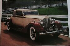 1934 Packard Roadster car print (yellow & brown,white top)