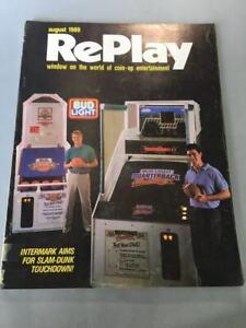 RARE VINTAGE ARCADE – REPLAY - GAME MAGAZINE, Vol. XIV, NO.11, AUGUST,1989.