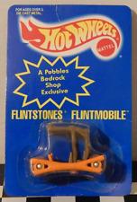 Hot Wheels 1995 Blue Card Flintmobile Flintstones Pebbles Bedrock Shop