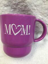 Tupperware Coffee Mug Cup Love MOM Purple With Handle 2224