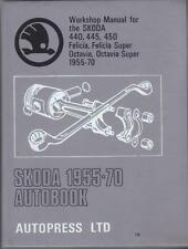 SKODA 440,445,450,FELICIA,OCTAVIA,SUPER AUTOBOOKS WORKSHOP MANUAL 1955-1970