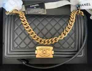 Chanel Boy Medium Black Caviar/Gold