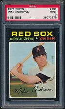 1971 Topps 191 Mike Andrews PSA 9 MINT (Pop 4, No 10's) Boston Red Sox