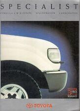 Toyota Corolla 4WD Estate Space Cruiser Landcruiser 1990 UK Market Brochure