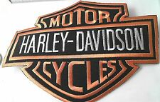 Harley Davidson Logo Patch Aufnäher Motor Cycles aufbügelbar 17,0 x 13,5