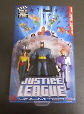 Batman Hawkgirl Elongated Man 2004 JUSTICE LEAGUE UNLIMITED Mattel 3 Pack MOC