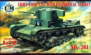 UM-MT Models 1/72 Soviet T-26 LIGHT TANK with CYLINDRICAL TURRET