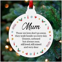 PERSONALISED In Loving Memory Christmas Tree Bauble Decoration Mum Dad Nan Robin