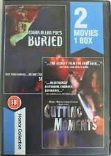 BURIED / CUTTING MOMENTS. 2 x Film DVD  Region 0 Pal. Excellent.