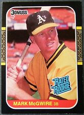 Mark McGwire Donruss '87 Rated Rookie Oakland A's Baseball Card #46 M/NM