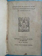 Jean DU TILLET : CHRONICON DE REGIBUS FRANCORUM, 1548, plein maroquin.