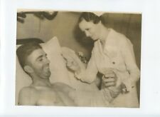 Original 1930's Carl Hubbell With Nurse 7 X 9 Wire Photo