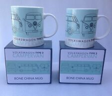 2 Mugs  Campervan Splity Drinking Cups Vw Volkswagen Motor home Coffee Mug