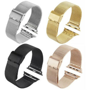 Stainless Steel Mesh Milanese Loop Strap iWatch Band For Apple Watch 40/44/42/38