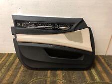 BMW F01 750i 740I F02 750LI FRONT LEFT DRIVER DOOR PANEL TAN BLACK OEM ☑️