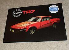 Triumph TR7 20 Page Sales Brochure 1978-1979 - P J Evans Sticker