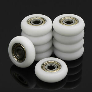 10/20/30Pcs Carbon Steel Embedded Ball Bearings Pulley Wheels Roller
