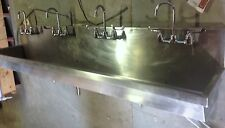 """Elkay Ewma9620C 96"""" Four Station Wash Sink with Faucets"""