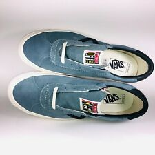 VANS OG Epoch LX Suede Lead Blue & Marshmallow Sneaker Size 10.5 VN0A4U12NQC