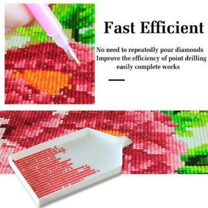 10pcs DIY Diamond Rhinestone Plate Tray Cross Stitch Nail Art Dotting Too^lk