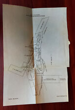 1928 Survey Sketch Map of Mountain Mining Claims Fish Creek Dyke Dam Alaska