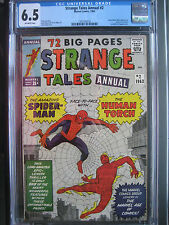 Strange Tales Annual #2 CGC 6.5 OW **1st Spider Man X-Over** Marvel Comics 1963