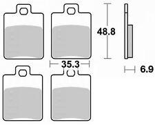 Jeu 4 plaquettes frein Avant gauche+droit qualité Piaggio MP3 400 IE 2007-2012