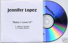 JENNIFER LOPEZ Baby I Love U! UK 2trk promo test CD JLO