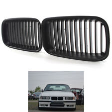 Matte Black Front Center Racing Grilles PAIR for BMW 3-Series E36 1992-1996 H00A